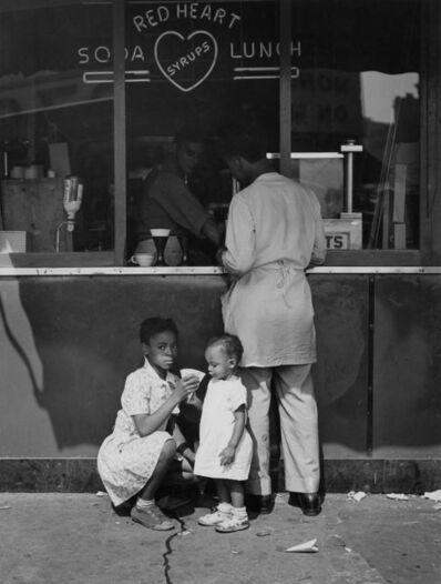 Todd Webb, '125th Street (Red Heart), New York', 1946
