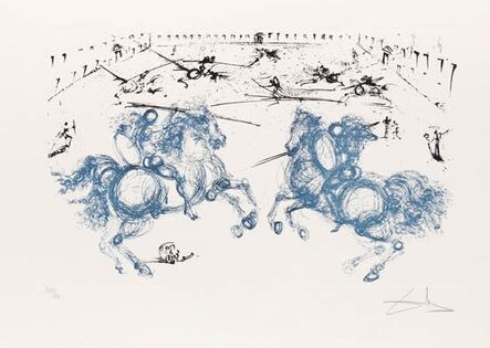 Salvador Dalí, 'Knightly Combat – Chevalier Combat - La Vida es sueno', 1971