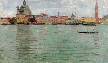 Carl Moll, 'View to Santa Maria della Salute and the Campanile', 1922