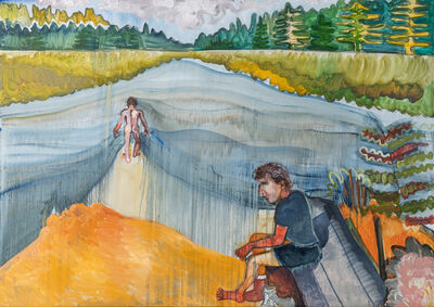 Brian Kokoska, 'Coyote Campsite (Long Pond)', 2020