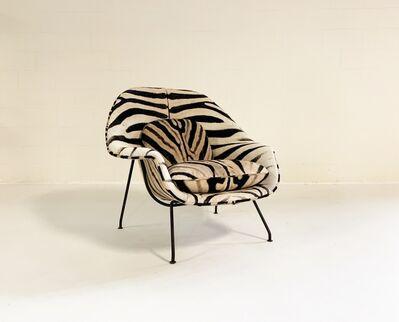 Eero Saarinen, 'Bespoke Womb Chair in Zebra', mid 20th century