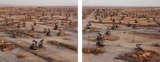 Edward Burtynsky, 'Oil Fields #19a & #19b, Belridge, California', 2003