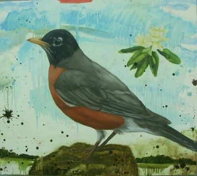 Eleanor Miller, 'Robin with Blossom', 2012