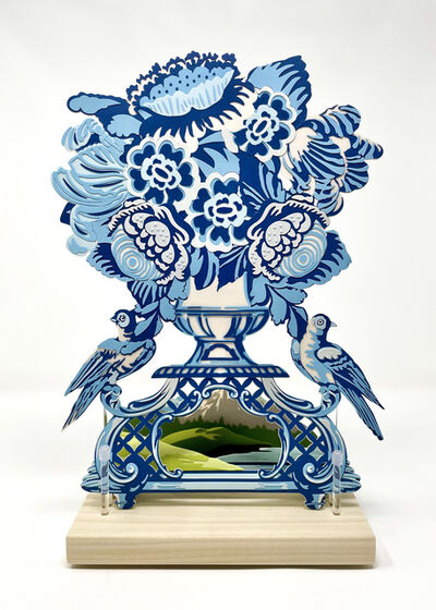 Janice Jakielski, 'Delft Vase with Mountains', 2021