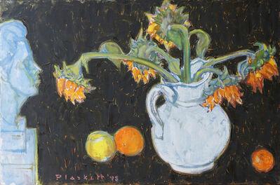 Joseph Plaskett, 'Sunflowers & Bust of Poet 2', 1998