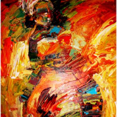 Doba Afolabi, 'Red Rock'