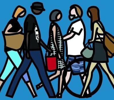 Julian Opie, 'Walking in Melbourne, 1', 2018