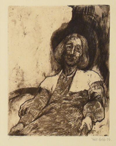 Emil Nolde, 'Elderly Woman', 1906