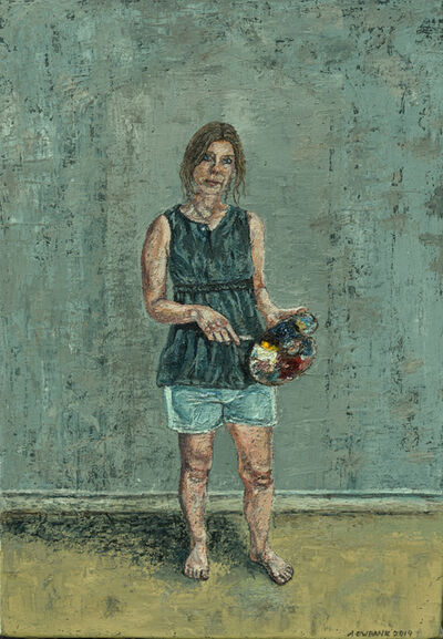 Amanda Ewbank, 'Self-Portrait with Palette', ca. 2019