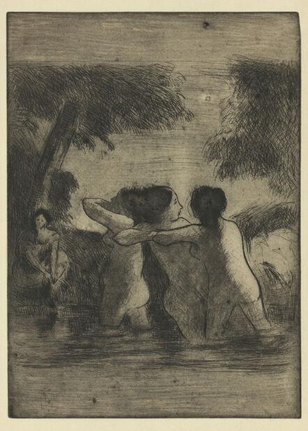 Camille Pissarro, 'Quatre Baigneuses (Four Bathers)', 1895