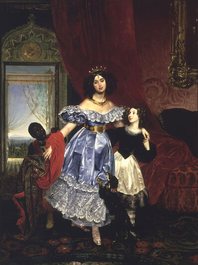 Karl Bruillov, 'Portrait of Countess Samoilova', 1832-1834