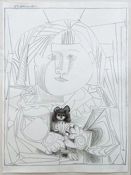 Pablo Picasso, 'Paloma et sa Poupée, Fond Blanc', 1952