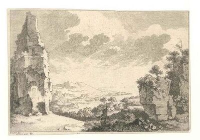 Quentin-Pierre Chedel after François Boucher, 'Landscape with Rocks', Mid 18th Century