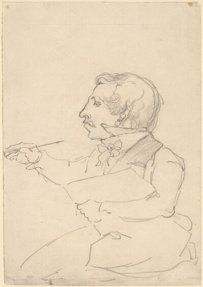 Emanuel Gottlieb Leutze, 'Eastman Johnson Sketching', ca. 1849/1851