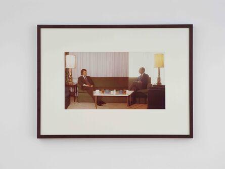 Ger van Elk, 'The Symmetry of Diplomacy with Kynaston McShine', 1972