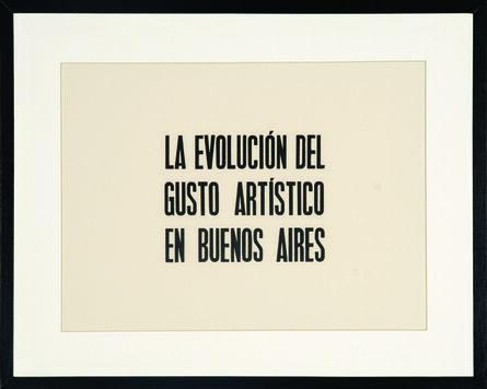 Santiago Villanueva, 'La evolución del gusto', 2013
