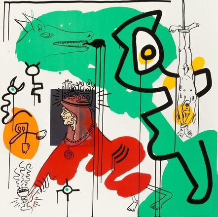 Keith Haring, 'No. 9, from Apocalypse portfolio', 1988