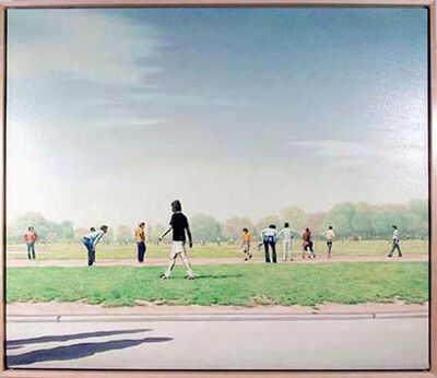 Hilo Chen, 'Soccer Players in Central Park', 1973