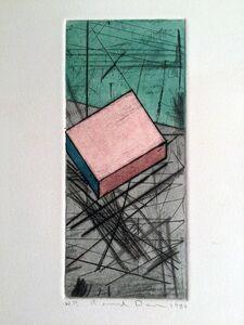 Ronald Davis, 'Drypoint Iota   Original Watercolor on a print by Ronald Davis', 1980