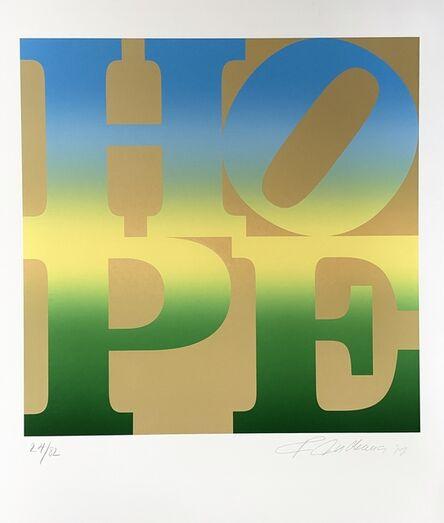 Robert Indiana, 'HOPE, Summer (Four Seasons of Hope, Gold Suite)', 2012