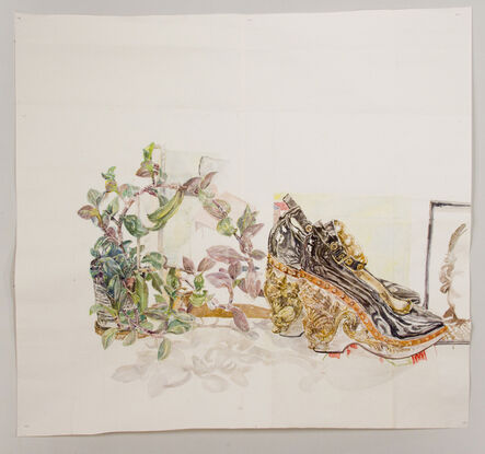 Dawn Clements, 'Plant and Shoes', 2015
