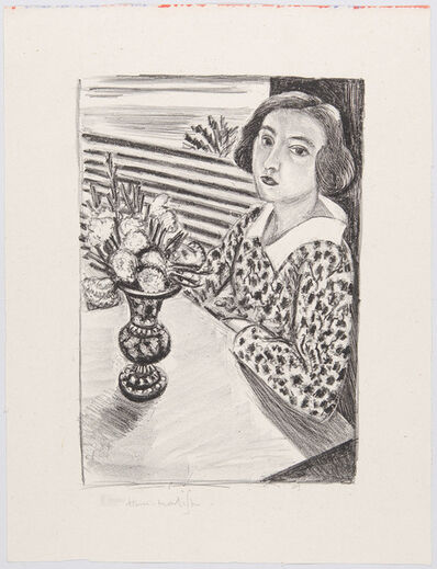Henri Matisse, 'Young Woman Sitting with Bouquet of Flower', 1923