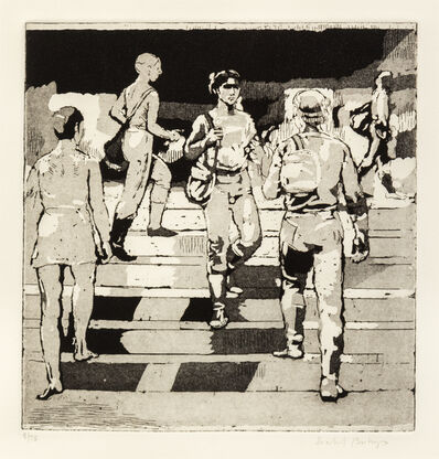 Isabel Bishop, 'Entrance to Union Square', 1981
