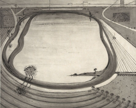 Wayne Thiebaud, 'Dark Reservoir', 2014