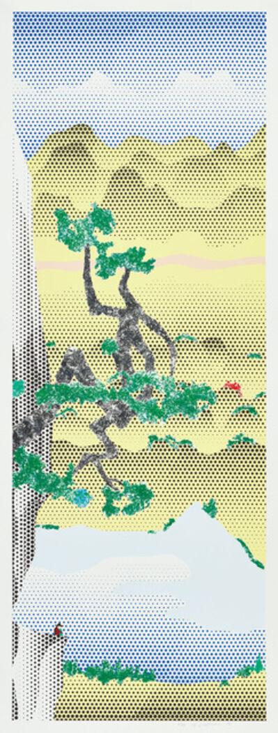 Roy Lichtenstein, 'Landscape with Poet', 1996