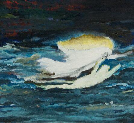 Geneviève Morin, 'Phantom schwimmer / Oel auf Leinen 34 x 37 cm'