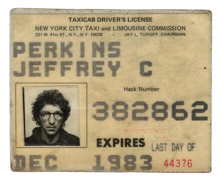 Jeff Perkins, 'Taxi licence', 1983-2002