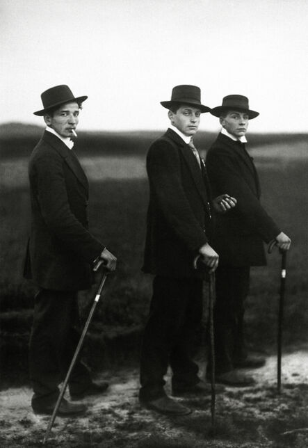 August Sander, 'Young Farmers', ca. 1914