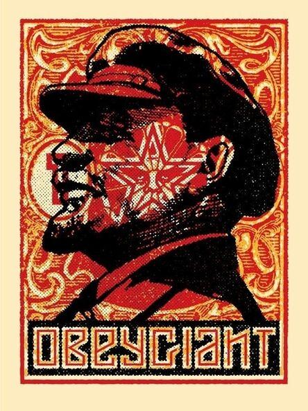 Shepard Fairey, 'Lenin Stamp', 2018