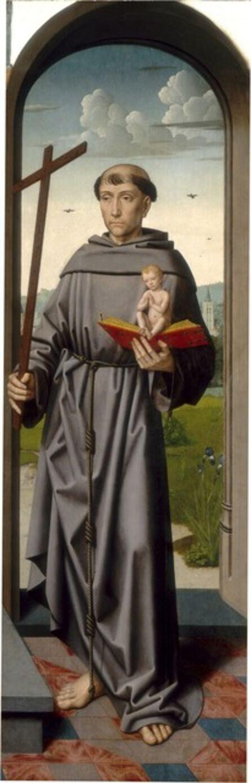 Gerard David and Workshop, 'The Saint Anne Altarpiece: Saint Anthony of Padua [right panel]', ca. 1500/1520