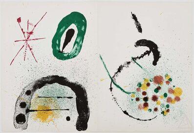 Joan Miró, 'La Fille du Jardinier II- Composition IV from Derrière Le Miroir', 1963