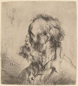 Jan Lievens, 'Bust of a Bearded Old Man', probably early 1630s