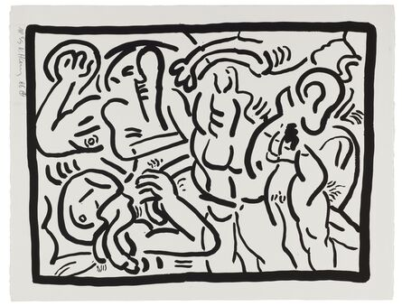 Keith Haring, 'Untitled, from Bad Boys (Littmann p.59)', 1986