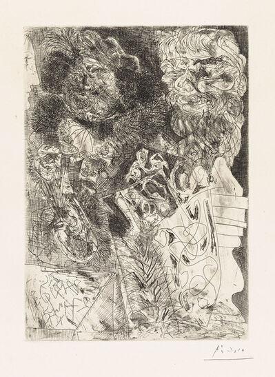 Pablo Picasso, 'REMBRANDT À LA PALETTE', 1934