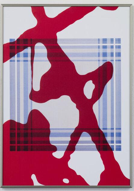 Daan Van Golden, 'Study Pollock Composition with Blue Square', 2012