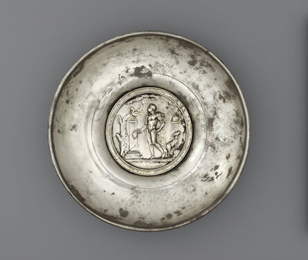 Unknown Artist, 'Offering Bowl with a Medallion of Mercury in a Rural Shrine', 175-225