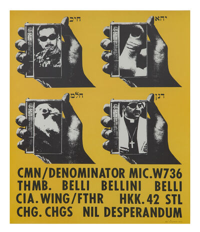 Wallace Berman, 'Untitled (CMN/Thumb Poster)', 1965