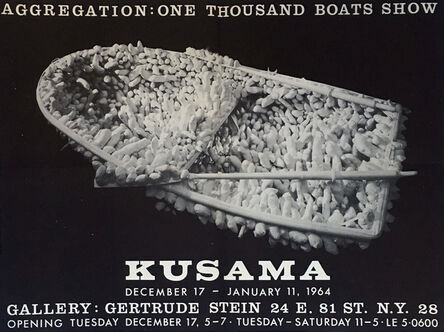 Yayoi Kusama, 'Kusama One Thousand Boats (1960s exhibition poster) ', 1963