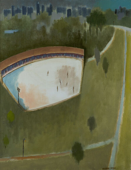 Herman Maril, 'Central Park Skaters', 1981
