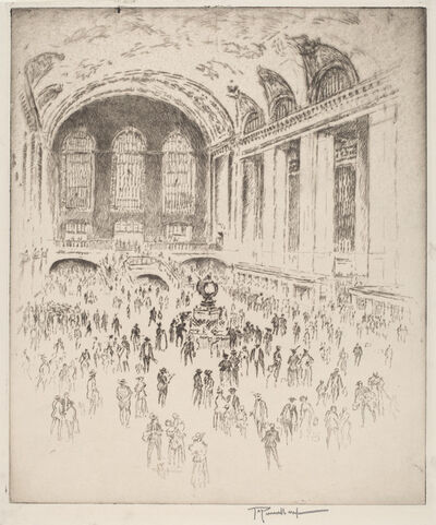 Joseph Pennell, 'Concourse, Grand Central, New York', 1919