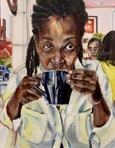 Wangari Mathenge, 'Coffee At Cassell's', 2019