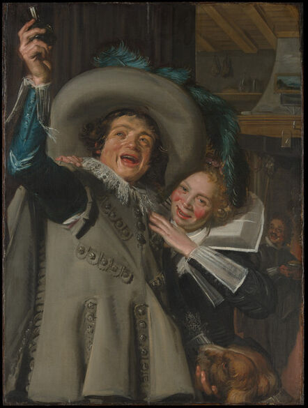 """Frans Hals, 'Young Man and Woman in an Inn (""""Yonker Ramp and His Sweetheart"""")', 1623"""