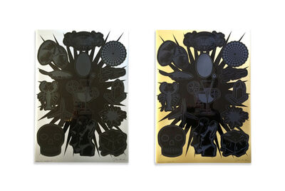 John M. Armleder, 'Annonciation I and Annonciation II', 2014