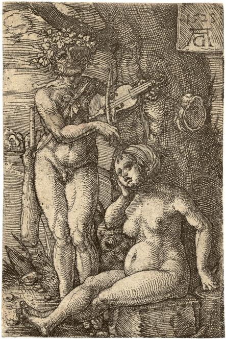 Heinrich Aldegrever, 'Orpheus and Eurydice', 1528