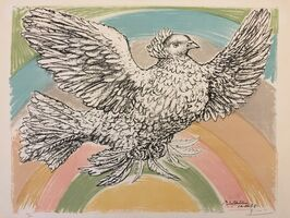 Pablo Picasso, 'Le Colomb Volant  - The Flying Dove with a rainbow', 1952
