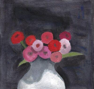 Robert Kulicke, 'Flowers in a White Vase', ca. 1965
